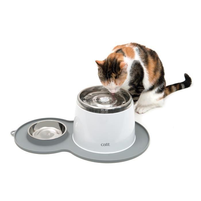 CAT IT Napperon en forme d'arachide - Format moyen - Gris - Pour chat