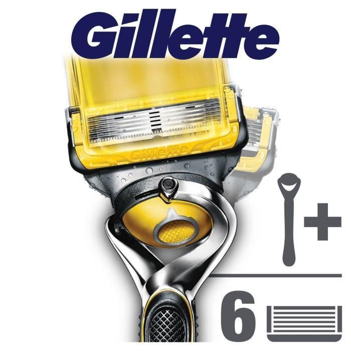 Gillette rasoir fusion proshield avec 5 recharges