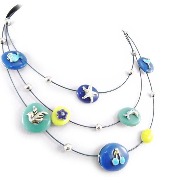 Collier Créateur Liberty bleu