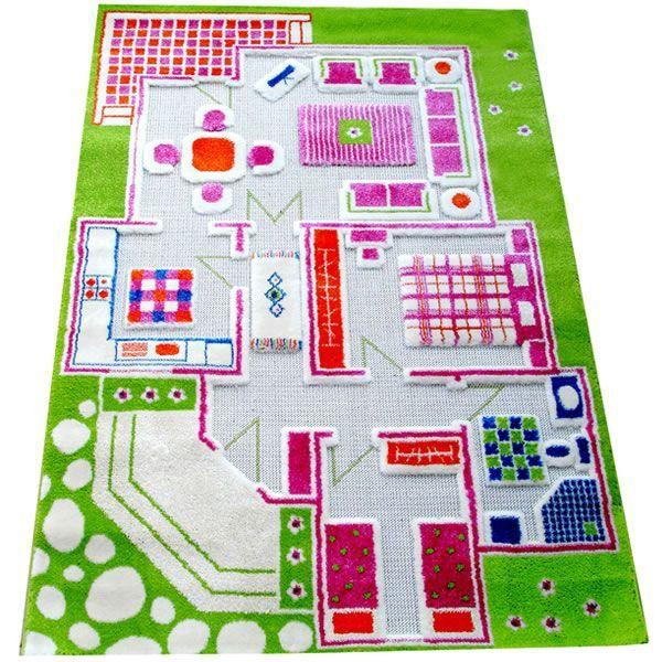 Tapis 3D Maison Verte - 100X150Cm - Achat / Vente Tapis De Jeu