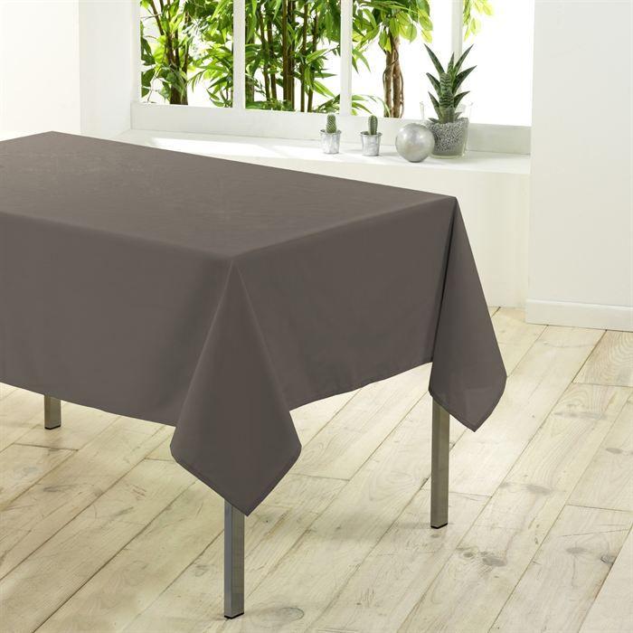 nappe rectangulaire unie 300 cm essentiel taupe achat vente nappe de table cdiscount. Black Bedroom Furniture Sets. Home Design Ideas