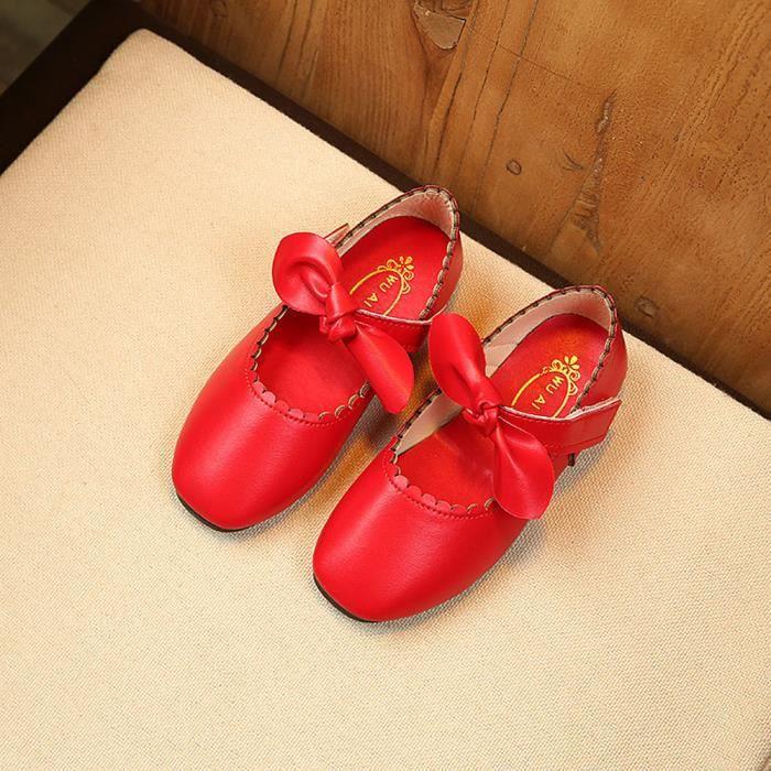 BOTTE Été Enfants Enfants Sandales Mode Bowknot Filles Plat Pricness Chaussures@RougeHM fAlKcc3l