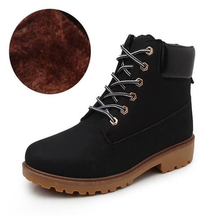 jr Peluche BTYS Bottines En Hommes Confortable Boots Martin Classique XZ030Noir39 Cuir W1qwYZvZ