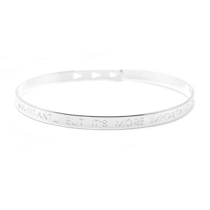 Mya bay - Bracelet jonc Its nice to be important… but its more important to 190e08590879