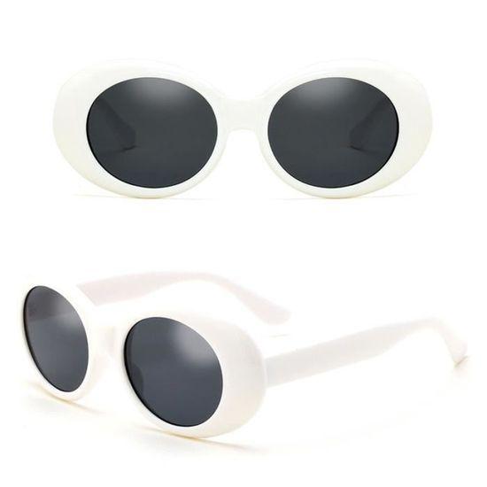 01c4c328e82a Style ovale Cadre épais Lunettes de soleil Retro Kurt Cobain Inspiré -  Achat   Vente lunettes de soleil - Cdiscount