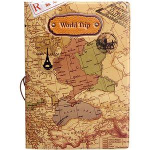 PORTE PAPIERS 14CM x 9.8CM Protège Passeport  Carte du Monde Caf