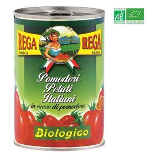 TOMATE REGA Tomates Pelées Bio 400g