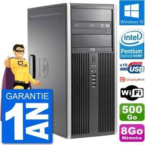ORDI BUREAU RECONDITIONNÉ PC Tour HP 8200 Intel G630 RAM 8Go Disque Dur 500G