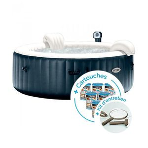 SPA COMPLET - KIT SPA Spa gonflable Intex PureSpa Plus Bulles 6 personne