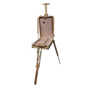 CHEVALET DE PEINTRE Boîte CHEVALET DE PEINTRE avec  trépied en bois de