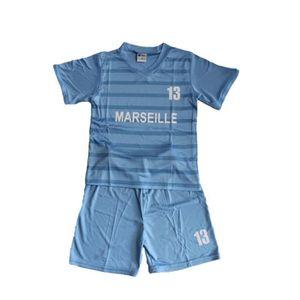 8843edefb33b0 Ensemble de vêtements ensemble marseille bleu short et maillot mixte