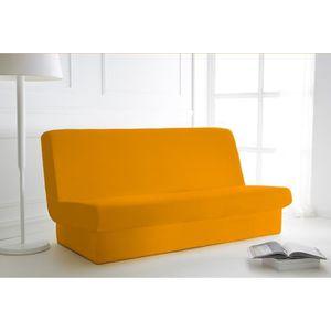 30a5abd39acf7a HOUSSE DE CANAPE Housse de clic clac Vendange d orange 135x195 avec