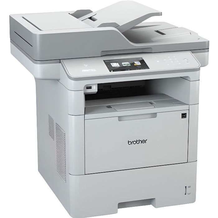 BROTHER Imprimante multifonctions 4en 1  MFC-L6900DW - Laser - Monochrome - USB 2.0, Wi-Fi, Ethernet - Recto-verso - A4