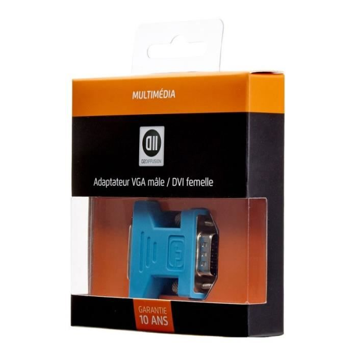 D2 Adaptateur 0 VGA mâle/ DVI femelle
