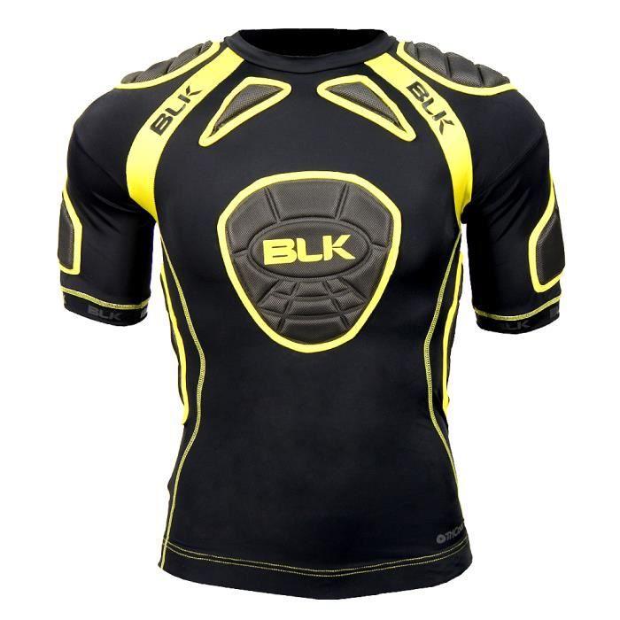 BLK Epaulières de Rugby Tek 6 Shoulder Tee Padded Adulte Noir et jaune