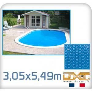 BÂCHE - COUVERTURE  Bâche à bulle ovale 3,05 x 5,49