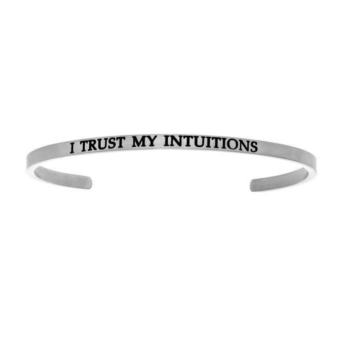 Intuitions en acier inoxydable I TRUST MY S Bracelet avec bracelet à diamants
