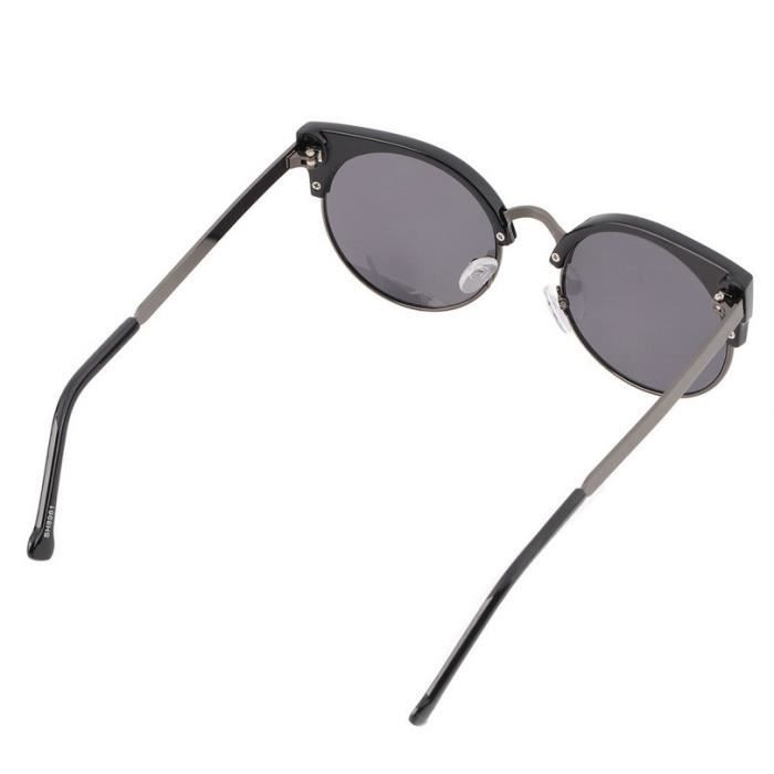 YKS fashion boîte à lumière gris BZ023 Sunglasses Black Gun