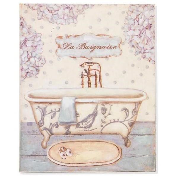 tableau cadre bois baignoire salle de bain achat vente tableau toile soldes d s le. Black Bedroom Furniture Sets. Home Design Ideas