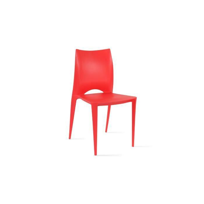 Chaise de jardin en plastique Rouge - Achat / Vente salon de jardin ...