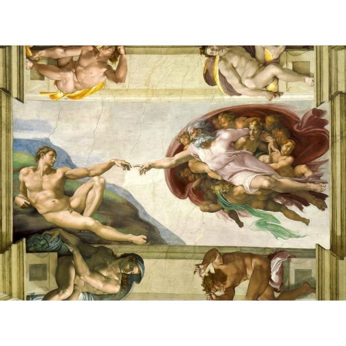 TABLEAU - TOILE Tableau La Création d'AdamMichel-Ange 75 x 55 cm