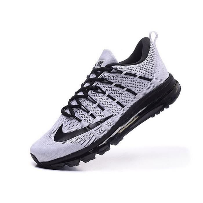 Hommes Nike Flyknit Air Max 2016 Chaussures de running blanc