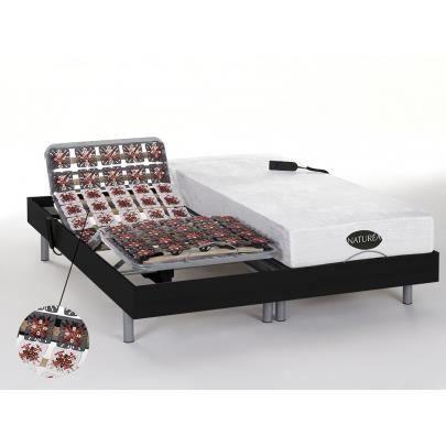 lit electrique 2x80x200 avec sommier et matelas achat vente lit electrique 2x80x200 avec. Black Bedroom Furniture Sets. Home Design Ideas
