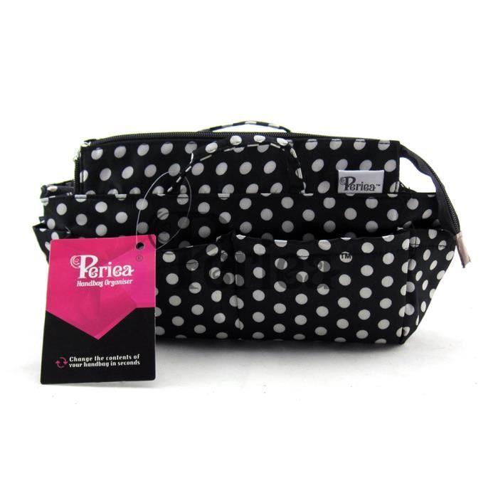 super populaire mieux choisir qualité fiable Periea - Organiseur de sac à main, 13 Compartiments - Lexy (Noir à pois  blancs)