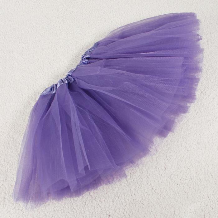 2e43fe2a3e85f Jupe Tutu Jupon Ballet Tulle Robe Danse Fille Enfant Costume Froufrou  Élastique Purple