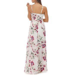 c52611b73006f ... ROBE Robe blanche fleurie asymétrique à volants. ‹›