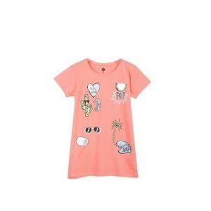 T-SHIRT Z T-shirt Ample Rose Saumon Bébé Fille
