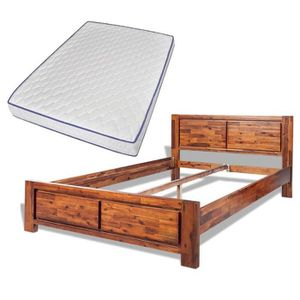 cadre de lit en bois 180x200 achat vente pas cher. Black Bedroom Furniture Sets. Home Design Ideas
