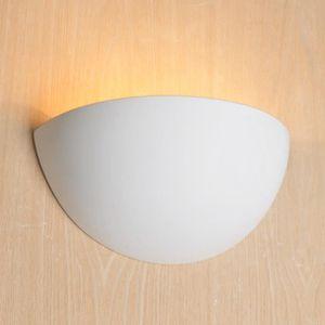 APPLIQUE  Lampe applique en plâtre demi lune - Revolution Bl