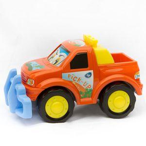 VOITURE - CAMION Mon premier Pick-up - Jouet éveil - Orange