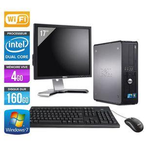 UNITÉ CENTRALE + ÉCRAN PC Dell 780 -Core Duo -4Go -160Go -Wifi +Ecran 17'
