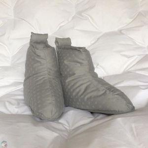 CHAUSSON - PANTOUFLE Chaussons duvet Homme jacquard gris clair Pointure