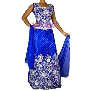 ROBE DE CÉRÉMONIE Lehenga choli Sari mariage tenue indienne saree bo 7f873604d67