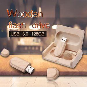 CLÉ USB 128GO Clé USB 3.0 Flash Drive En Bois d'érable Cad