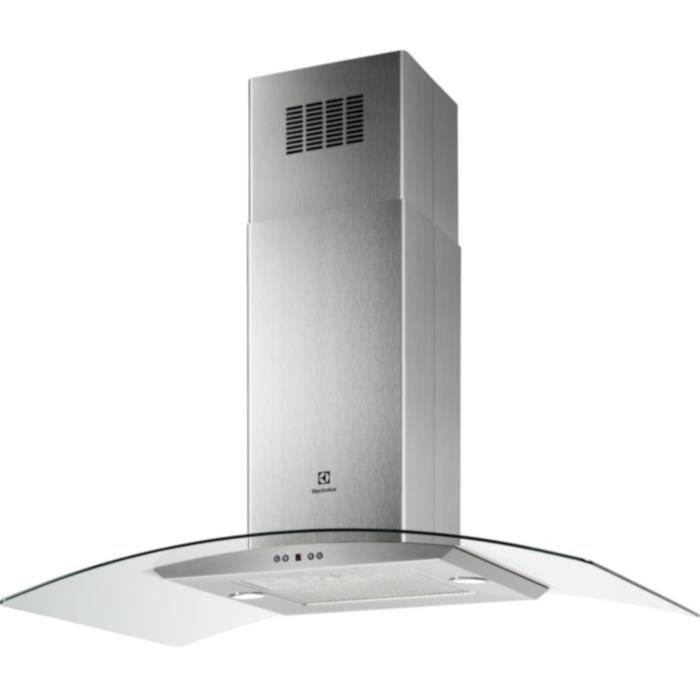 ELECTROLUX EFL10965OX - Hotte décorative ilots -713m3/h - 67 dB - 3 vitesses + 1 intensive - L 80cm - Inox