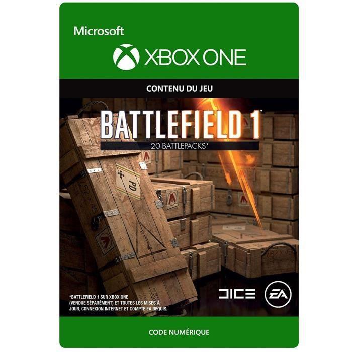 DLC Battlefield 1: 20 Battlepacks pour Xbox One