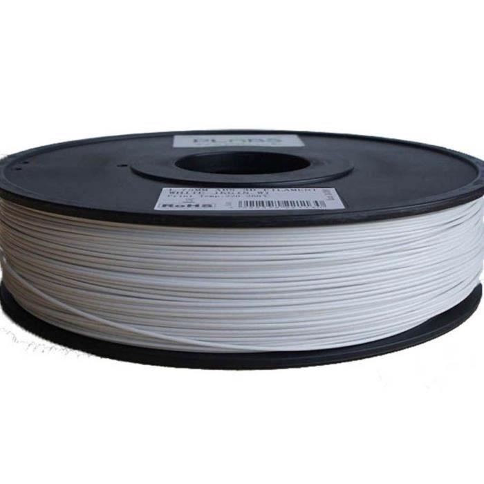 ESUN Filament pour Imprimante 3D HIPS - Blanc - 3 mm - 1kg