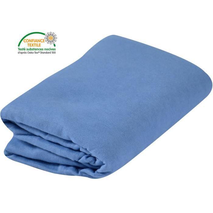 Jersey 100% coton 130g/m² - Mixte - Dès la naissance - Livré à l'unitéDRAP HOUSSE MATELAS