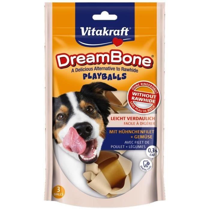 VITAKRAFT Friandises à mâcher DreamBone Playballs - Pour chien - 3 pièces