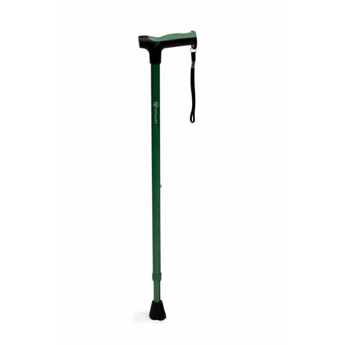VITILITY - Canne réglable de 71 à 95 cm - verte