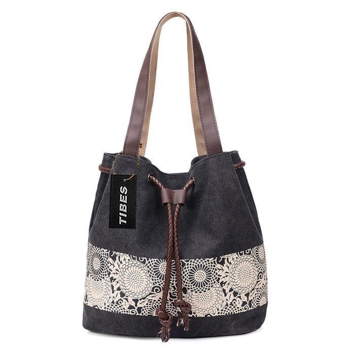Bandoulière en toile Vintage sac léger Sac à main pour les femmes Q3CBO