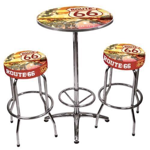 Set de bar Route 66 - Achat   Vente mange-debout Set de bar Route 66 ... 62aeb5dd5b77