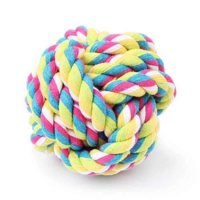 Animaux Corde Boule Jouet Mordre Squeak Coloré Toy Dog Balle Ycc70615557_1909 - Htesnt-a1859