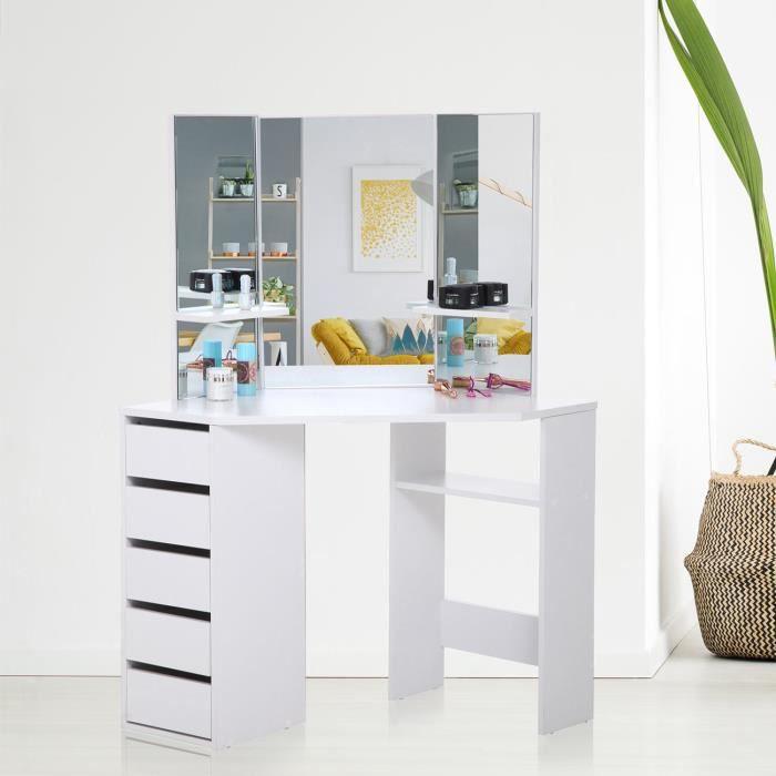 coiffeuse bois massif achat vente coiffeuse bois massif pas cher cdiscount. Black Bedroom Furniture Sets. Home Design Ideas