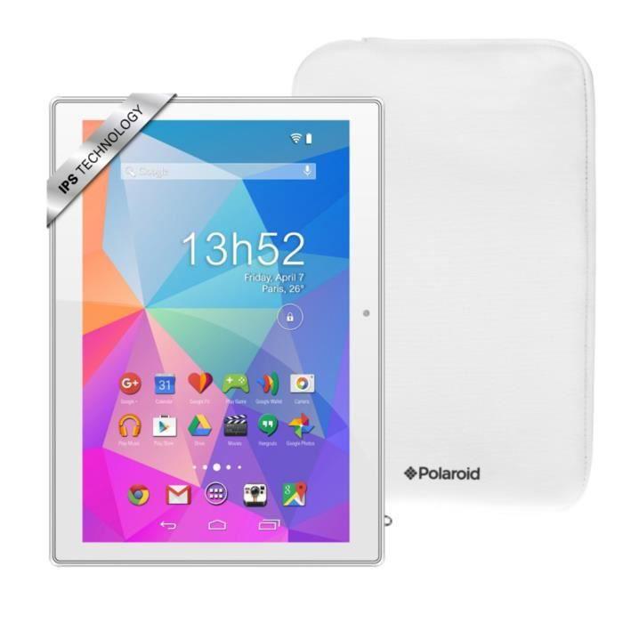 polaroid pack tablette tactile pure 101 ips housse ram 1go
