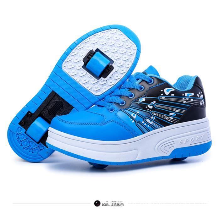 Nouveaux enfants 2016 roue Heelys Chaussures enfants hiver chaud Sneakers avec Double roues garçons filles patins à chaussures sLxp7P6